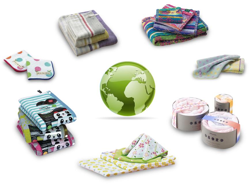 タオル関連商品の環境負荷の低減を推進