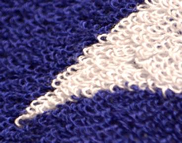 タオルの織りで柄を出す